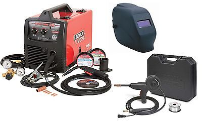 Lincoln Electric K2697-1sh Easymig 140 Welder With Spoolgun And Adf Helmet New