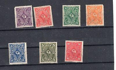 Germany 1922-3 posthorn stamps  MNG part set SG 204-211