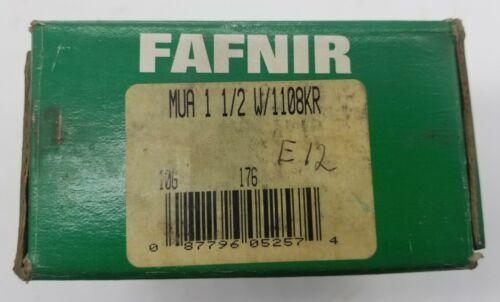 One(1) Fafnir MUA 1-1/2 W/1108KR Insert Ball Bearing - Ships FREE from USA