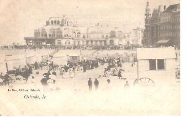 carte postale - Oostende - Ostende - CPA - Cabines ambulantes sur la plage