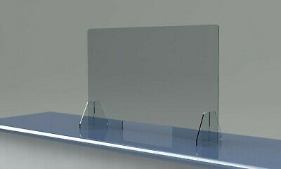 Sneeze Guard Large 48 X 30 Acrylic Shield For Cashier Checkout Counter Desk