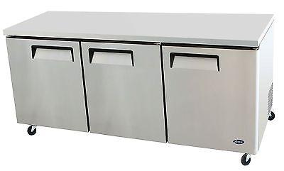 Atosa Mgf8404 72-inch Three-door Undercounter Refrigerator