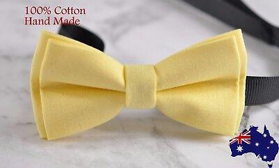 Men Women Cotton Matte Baby POPCORN  Yellow Craft Bow Tie Bowtie Wedding Party