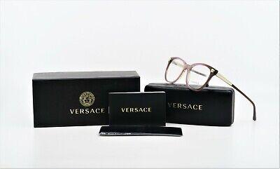 VERSACE Women's Purple/Gold New Authentic Glasses MOD 3242 5229 54mm w/ (Purple Prescription Glasses)