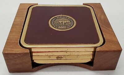 Vintage - Exxon Mobil - Marketing Employee Perfect Attendance - Coasters - 88/91