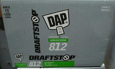 New Case Of 12 Dap Draftstop 812 Window Door Expanding Foam Sealant Lot 12pcs