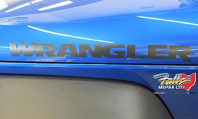 2007-2018 Jeep WRANGLER Low Gloss Black Hood Side Decal Sticker Mopar OEM