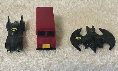 VINTAGE ERTL BATMAN'S CAR, AIRPLANE, JOKER'S VAN ( DC COMIES ) VEHICLE DIE CAST
