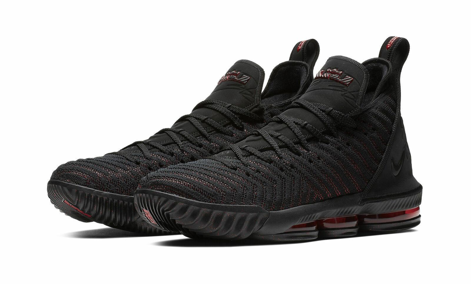 best deals on a853f 71af4 Nike LeBron 16 Men's Basketball Shoes - Black/University Red, Size 13