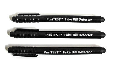 (3 Pack) Counterfeit Money Detector Pen Marker Fake Dollar Bill Currency Check