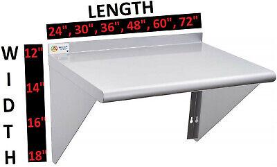 Stainless Steel Wall Shelf 18ga Nsf Commercial Kitchen Restaurant Shelving
