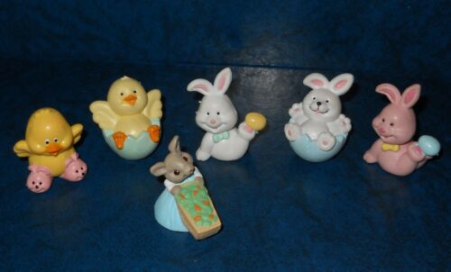 Hallmark Merry Miniatures BUNNY & Russ RABBITS Chick Duck Easter Spring 🐰 🐰