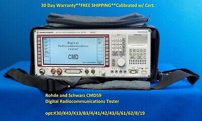 Loaded Rohde And Schwarz Rs Cmd59-k30k43k13b3441424366162819 Tester