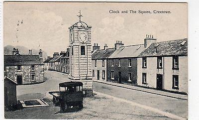 THE SQUARE, CREETOWN: Kirkcudbrightshire postcard (C4078).