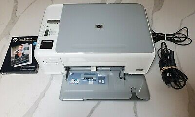 HP Photosmart C4280 All-In-One Inkjet Printer New Ink With Paper Tested