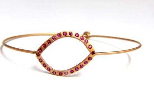 .36ct Pink Sapphire Wire Bangle Bracelet Handmade