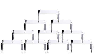 "Clear Acrylic Display Risers Showcase for Jewelry 4""x 3''x 2'', Lot of 10"