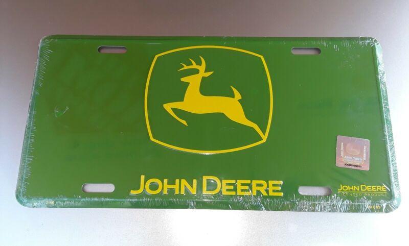 ✔Brand New John Deere 🚜Vanity Advertising Sign Metal Embossed License Plate ✔