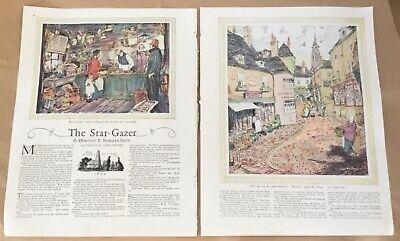 Star-Gazer pictorial ad 1927 vintage print 20s art illustration James Preston