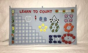 Learn To Count Felt Wall Chart for babies