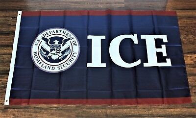 ICE Banner Flag Immigration Customs Enforcement Police DHS Border Control