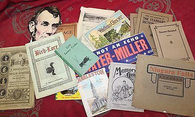Large Lot of Antique Paper Ephemera Pamphlets Booklets Postcards Souvenirs
