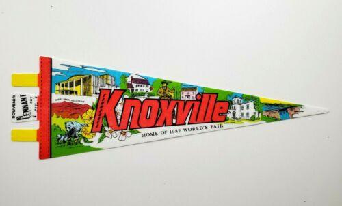 Knoxville TN Souvenir Pennant Flag Vintage Tourist Worlds Fair Smoky Mtns Bears