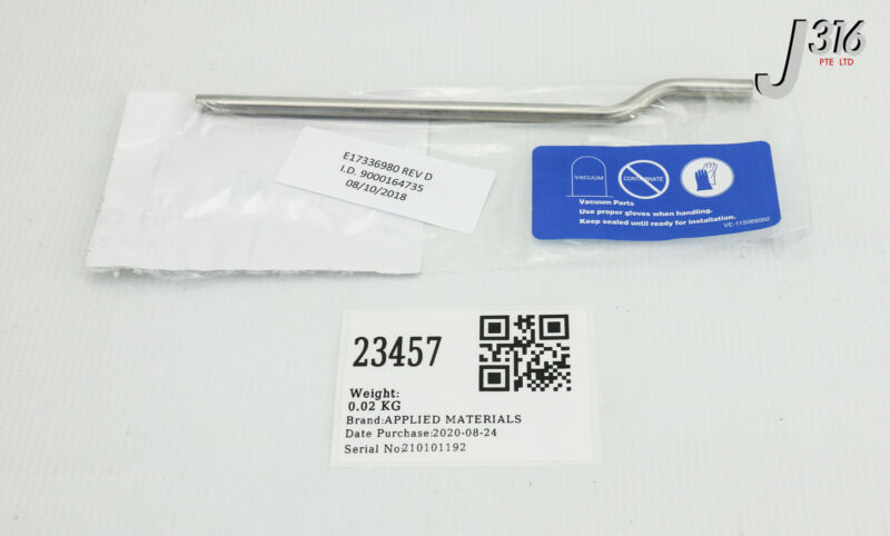 23457 Applied Materials Tube, Gas, Ihc Source, Version 2, Ss (new) E17336980
