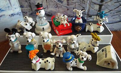 1996 Disney McDonald's 101 DALMATIANS Lot 14 Christmas Toys Puppies Snow Globes