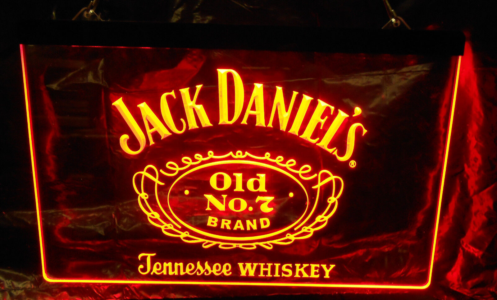 JACK DANIELS RED WHISKEY OLD No. 7 BAR BEER LED NEON LIGHT S