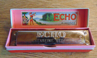 Harmonica From WITH Hohner Echo 28 Tonlage C IN Original Box Top Condition