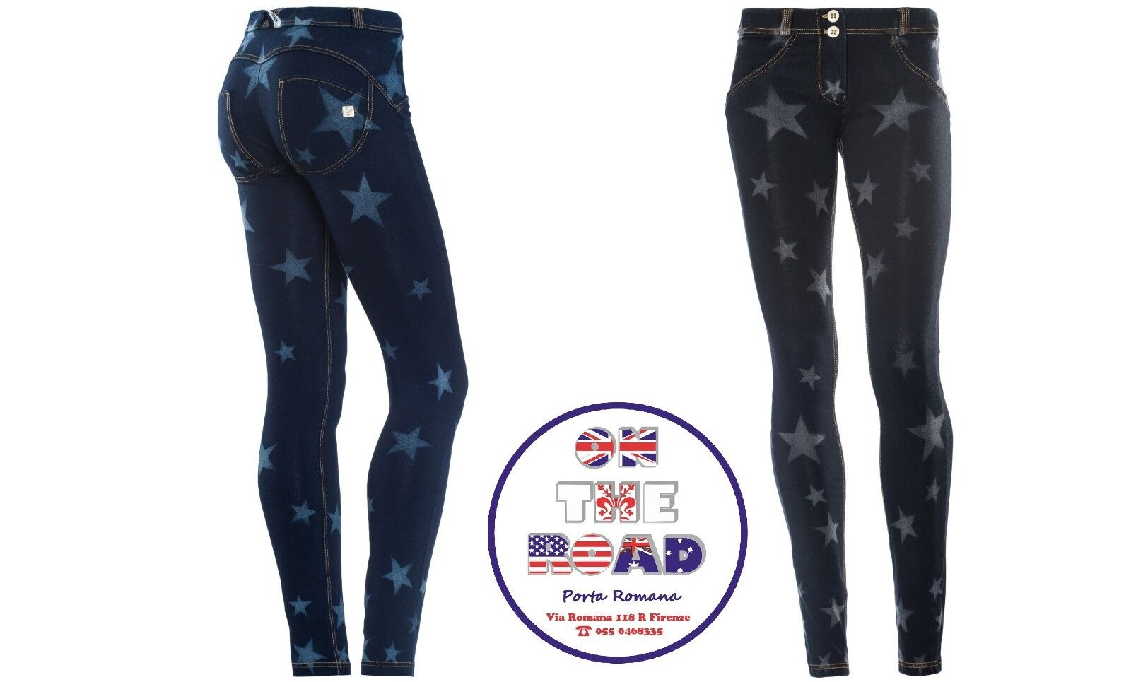 SCONTO 30% FREDDY WR.UP XS S M L PANTALONE PUSHUP WRUP1RFL6E STELLE VITA REGULAR