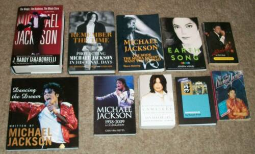 12 LOT OF MICHAEL JACKSON BOOKS DANCING THE DREAM EARTH SONG JOSEPH VOGEL MJ