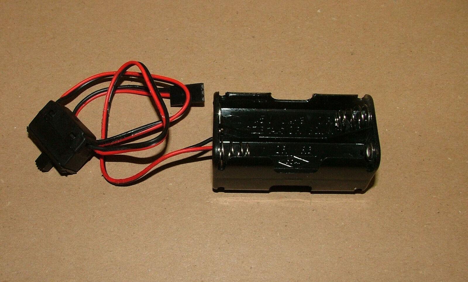 Empfänger Batteriebox mit Schalter für 4 Mignonzellen (AA) Stromversorgung