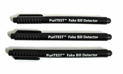 3 Pack Counterfeit Money Detector Pen Marker Fake Dollar Bill Currency Check