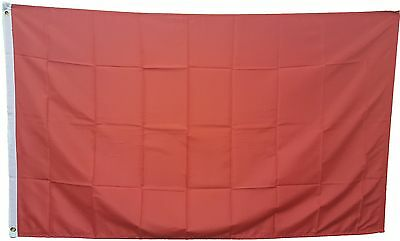 SOLID RED 3'x5' FLAG WITH GROMMETS 3 FOOT X 5 FOOT POLYESTER
