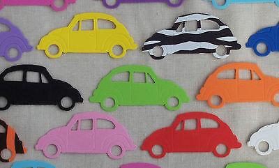 FUNKY FOAM x5 VW BEETLES die cuts Boys Embellishments Kids Craft