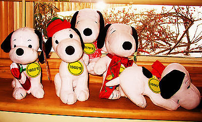 """Collectible plush Snoopy set of 5 """"Celebrate Peanuts 60 Years"""" GREAT GIFTS!"""