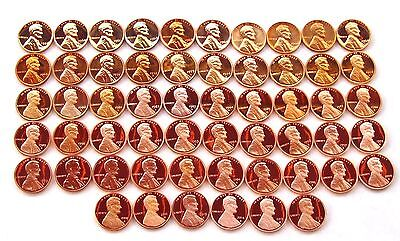 1959  - 2018 S Lincoln Cent Proof & SMS  Complete Set 63 Coins