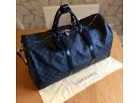 Louis Vuitton Leather Keepall Size 55
