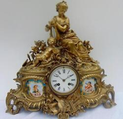 FRENCH FIGURAL BRONZE MANTLE CLOCK Lot 6