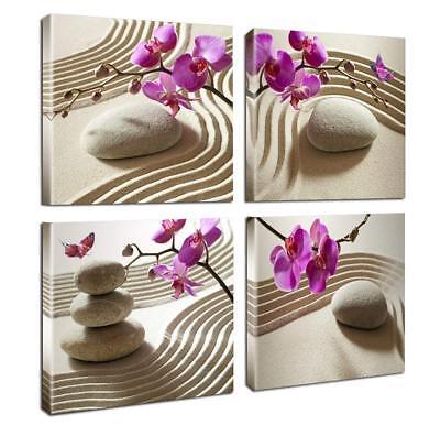 Canvas Print Wall Art-Spa Wall Decor Butterfly Orchid Painting Zen Spa - Zen Wall Art Decor