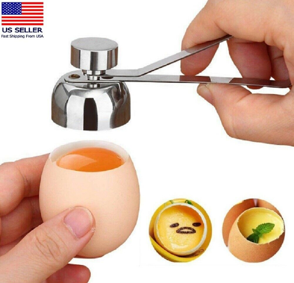 Stainless Steel Egg Shell Opener Topper Cutter Cracker Knocker Kitchen Home Tool Home & Garden