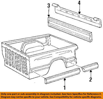 Dodge CHRYSLER OEM 94-02 Ram 3500 Pick Up Box Bed-Applique Window Trim 55295060