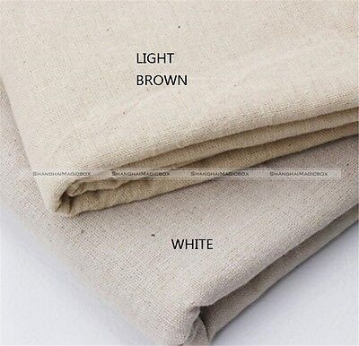 Solid Jute Burlap Hessian Fabric Sewing Quilting Bag Cloth Upholstery Craft US