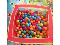 Pop Up Ball Pool Pit And 222 Balls Folding Flat Easy Store 33inchX33inchX11inch