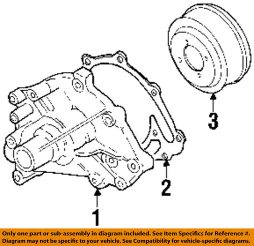 Lincoln Ford Oem 1990 Town Car 5 0l V8 Water Pump Gasket E2zz8507a