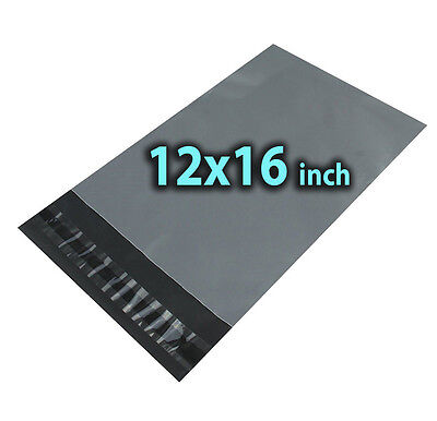 12x16 500X Grey Mailing Bags Strong Poly Postal Postage Post Mail Self Seal UKES