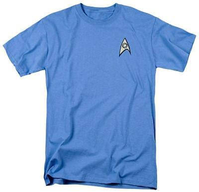 Star Trek Science Uniform Spock Costume Men's Graphic Adult T-Shirt Tee SciFi TV - Spock Uniform Shirt