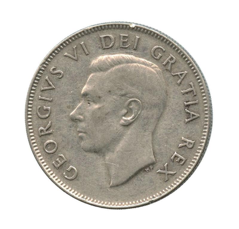 1950 No Design Canada Silver Half Dollar
